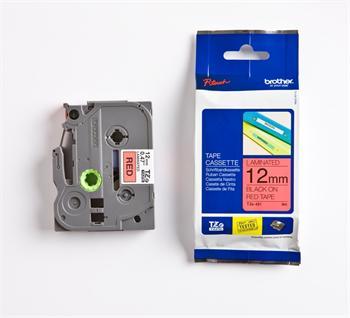 páska BROTHER TZ431 čierne písmo, červená páska Tape (12mm)