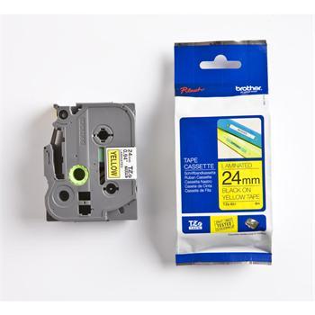 páska BROTHER TZ651 čierne písmo, žltá páska Tape (24mm)