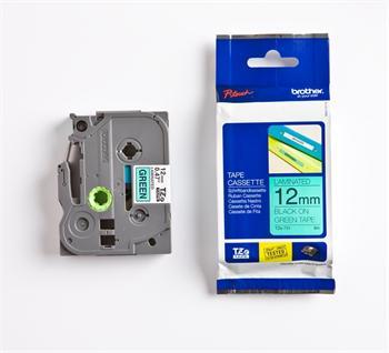 páska BROTHER TZ731 čierne písmo, zelená páska Tape (12mm)