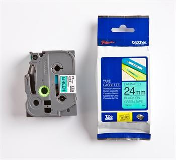 páska BROTHER TZ751 čierne písmo, zelená páska Tape (24mm)
