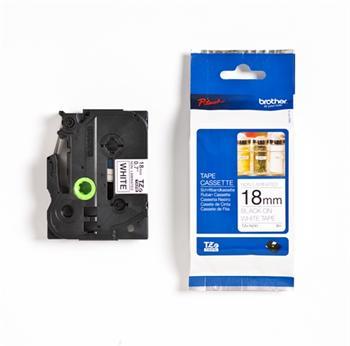 páska BROTHER TZeN241 čierne písmo, biela páska nelaminovná NON LAMINATED Tape (18mm)