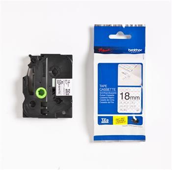 páska BROTHER TZeSE4 čierne písmo, biela páska bezpečnostná SECURITY Tape (18mm)