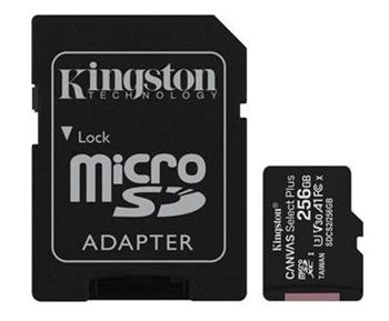 Pamäťová karta Kingston Canvas Select Plus microSDXC 256GB Class 10 UHS-I 100/10 MB/s (+ adaptér)