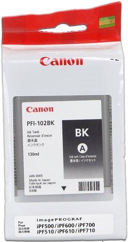 kazeta CANON PFI-102BK black iPF 500/510/600/605/610/650/655/700/710/720/750/755/760/765, LP 17/24
