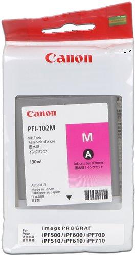 kazeta CANON PFI-102M magenta iPF 500/510/600/605/610/700/710/720, LP 17/24