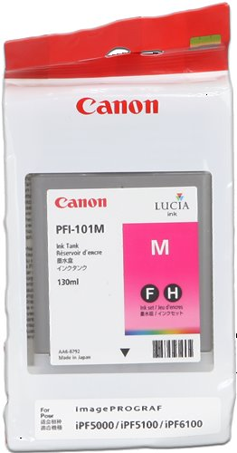 kazeta CANON PFI-101M Magenta pre iPF 5000/5100/6000s/6100