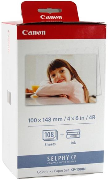 náplň + papier CANON KP-108IN SELPHY CP 100/200/220/300/330/400/500/510/530/600/710/720/730/740/760/780/800