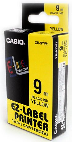 b9bc4d333 páska CASIO XR-9YW1 Black On Yellow Tape EZ Label Printer (9mm ...