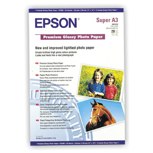 papier EPSON S041316 Premium glossy photo 255g/m2, A3+, 20ks