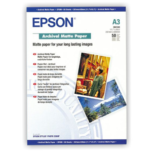 papier EPSON S041344 Archival Matte 194g/m2, A3, 50ks